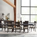 Kincaid Furniture Wildfire 9 Pc Dining Set - Item Number: 86-056P+2X86-062+6X86-061