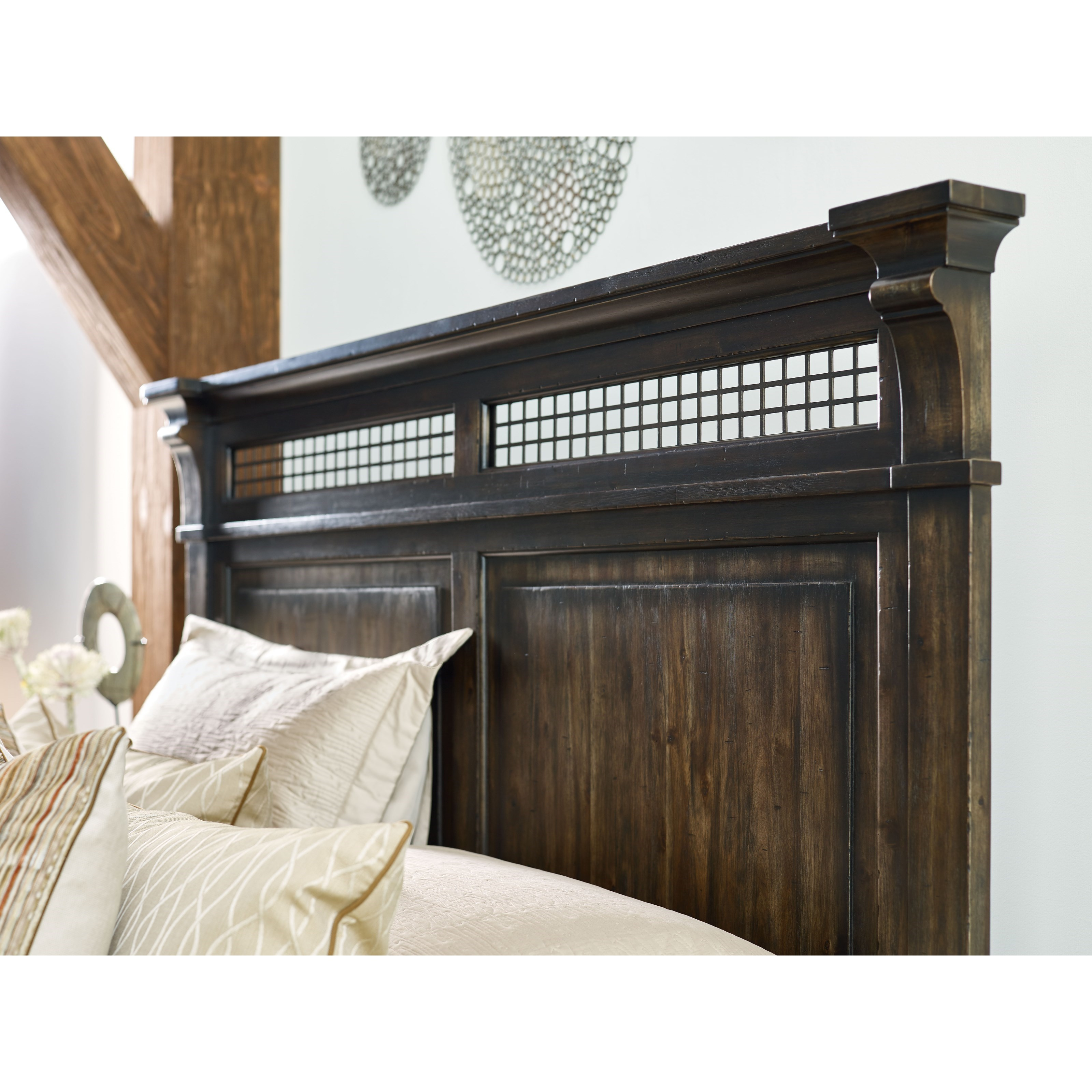 Kincaid furniture wildfire king northgate bed with carved for Furniture northgate