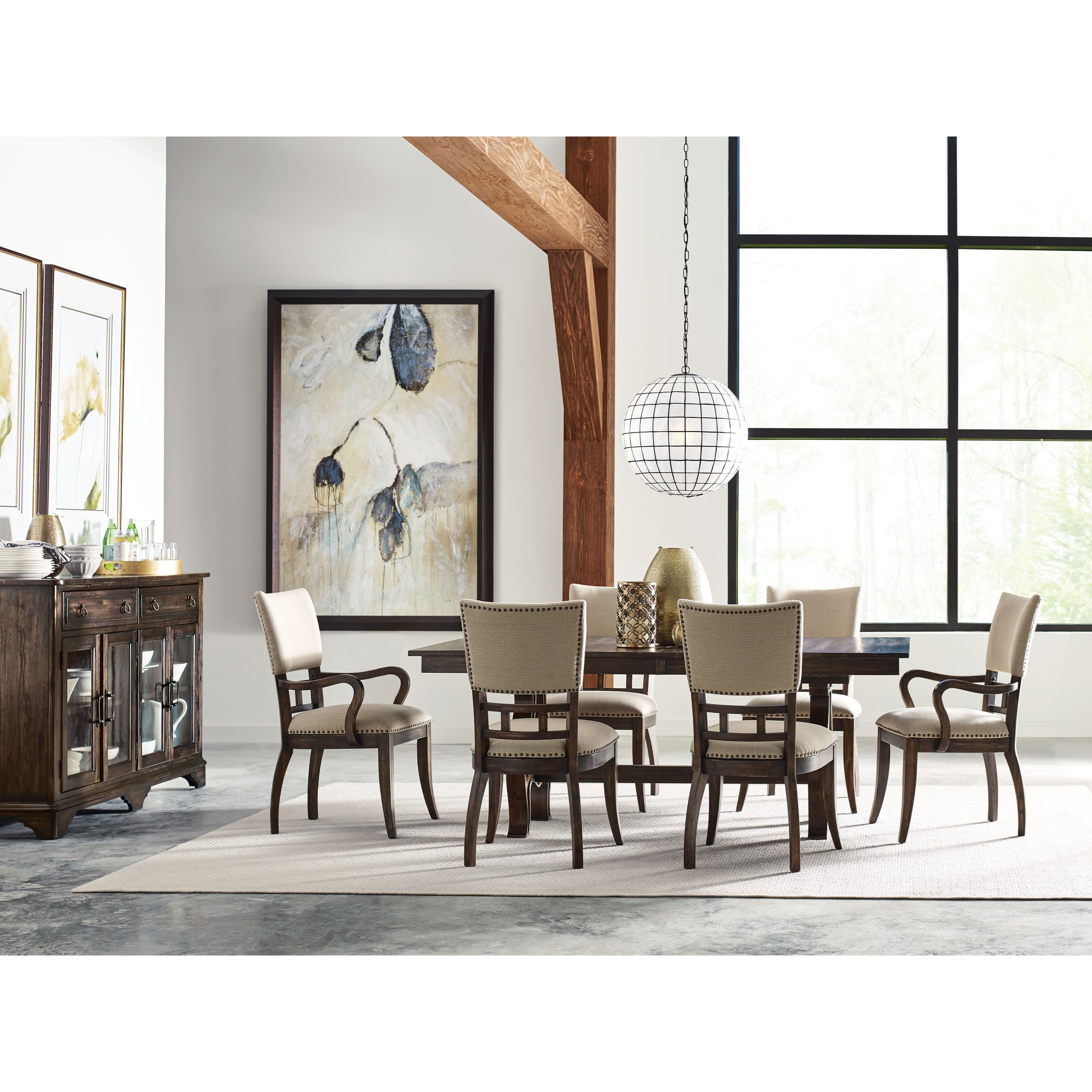 kincaid furniture wildfire eight piece formal dining room