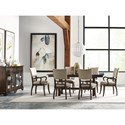 Kincaid Furniture Wildfire 8 Pc Formal Dining Room Group - Item Number: Dining Room Group 1