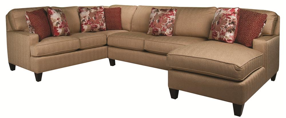 Morris Home Furnishings Emily Emily 3-Piece Sectional - Item Number: 134879494