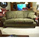 Morris Home Furnishings 4200 Rolled arm and back sofa - Item Number: 4200-olive