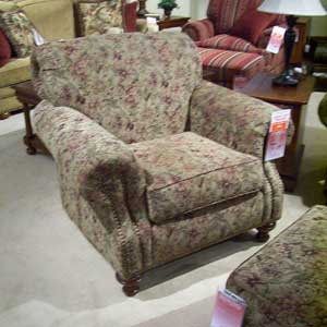Morris Home 4200 Rolled arm and back chair