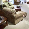 Morris Home Furnishings 4200 Rolled arm and back chair with nail head trim