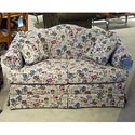"Morris Home Furnishings 6800 62"" Firm-Cushion Camel Back Loveseat - Item Number: 6820FC-Opal"