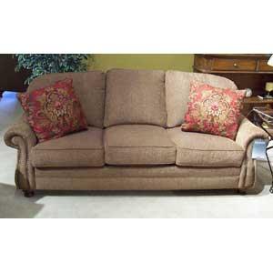 "Morris Home Furnishings 9000 88"" Semi-Attached Back Sofa"