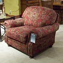"Morris Home 9000 45"" Semi-Attached Back Chair - Item Number: 9001-MomaRuby"