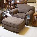"Biltmore Great Rooms 9500 48"" Loose Pillow Back Chair and Ottoman - Item Number: 9501+9508-Cortland"