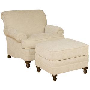 King Hickory Amanda Upholstered Chair and Ottoman Set