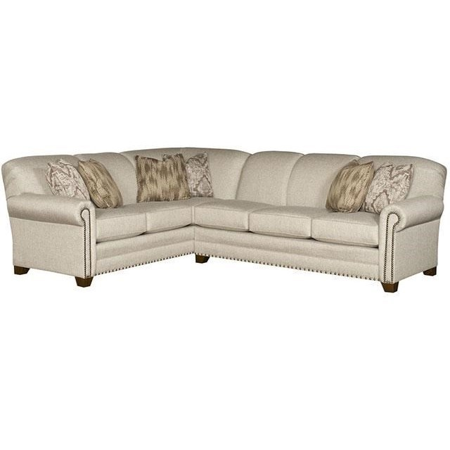 Sectional Sofas In Hickory Nc: King Hickory Annika L-Shape Sectional With Rolled Arms