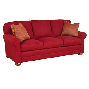Sofas By King Hickory Customizable 3 Seat Stationary Sofa