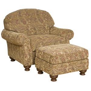 Morris Home Furnishings Boston  Chair and Ottoman Set