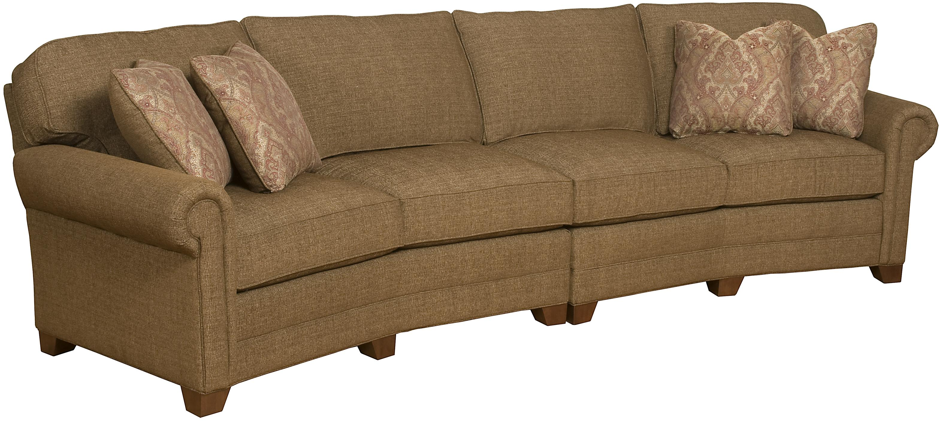 King Hickory Brighton 2 Piece Conversation Sofa with Exposed Wood ...