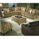King Hickory Brighton  4 Piece Sectional - Item Number: 2552+2564+2573+2580