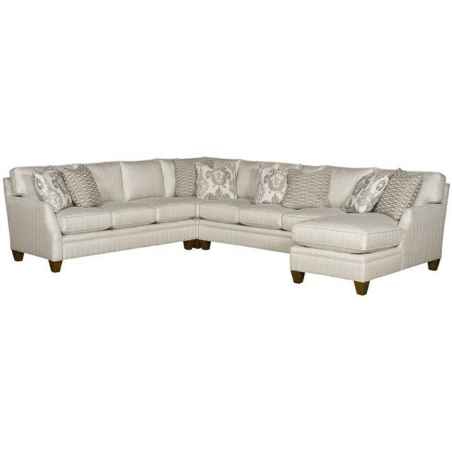 Cory Customizable Sectional by King Hickory at Saugerties Furniture Mart