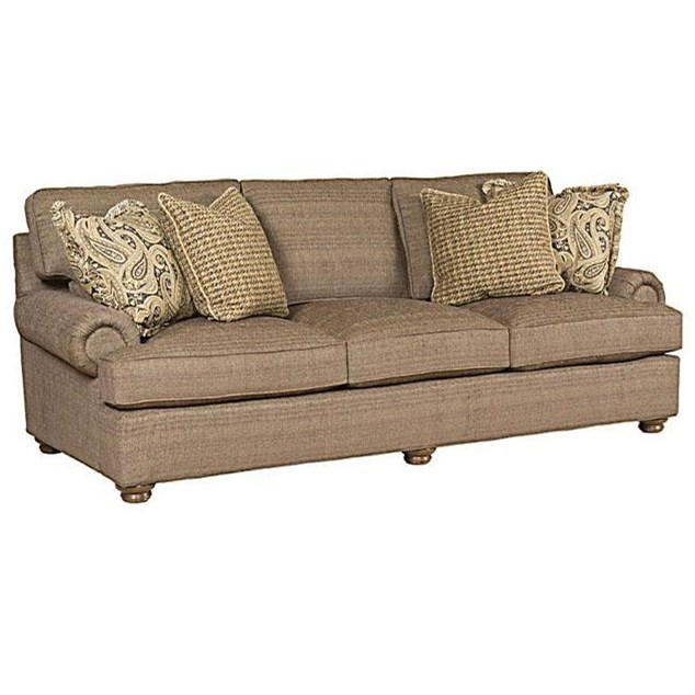 King Hickory Henson Customizable Stationary Sofa   Item Number:  6000 PBT 1713