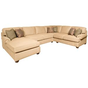 Morris Home Furnishings Henson 3- Piece Customizable Sectional