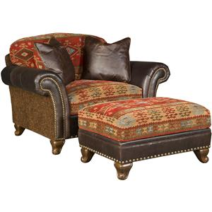 Morris Home Furnishings Katherine Chair and Ottoman