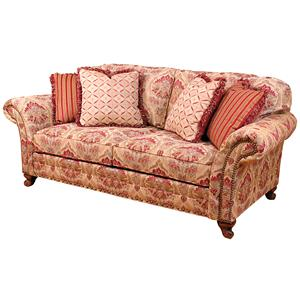 King Hickory Katherine Traditional Stationary Sofa With Nailhead Trim Howell Furniture