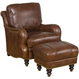 King Hickory Accent Chairs and Ottomans London Accent Chair & Ottoman Set