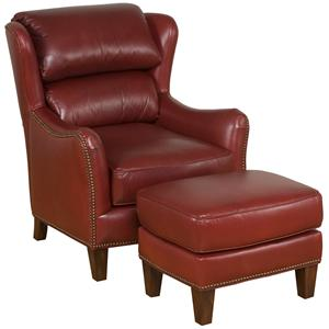 King Hickory Accent Chairs and Ottomans Eagle Accent Chair & Ottoman