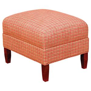Morris Home Furnishings King Hickory Accent Chairs and Ottomans Upholstered Francis Ottoman