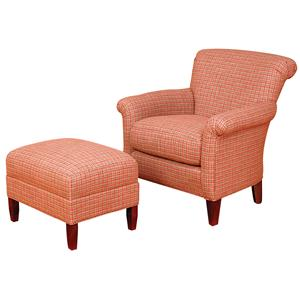 Biltmore King Hickory Accent Chairs and Ottomans Francis Rolled Back Chair and Ottoman Set  sc 1 st  Morris Furniture & King Hickory Accent Chairs and Ottomans (fabric) by Biltmore ...