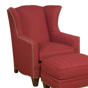 Morris Home Furnishings King Hickory Accent Chairs and Ottomans Athens Accent Chair