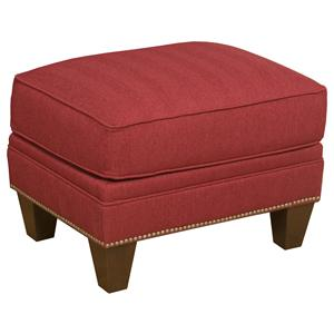 Morris Home Furnishings King Hickory Accent Chairs and Ottomans Athens Accent Ottoman