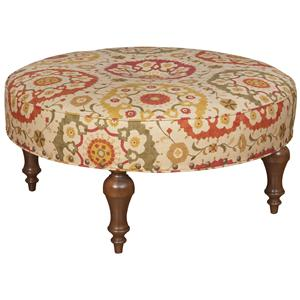 King Hickory King Hickory Accent Chairs and Ottomans Round Olympic Ottoman