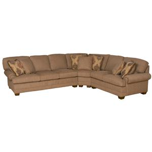 Morris Home Furnishings Lincoln Park Sectional Sofa