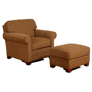 Morris Home Furnishings Veronica Chair and Ottoman Set