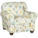 Morris Home Furnishings Winston Transitional Chair with Turned Legs and Rolled Arms