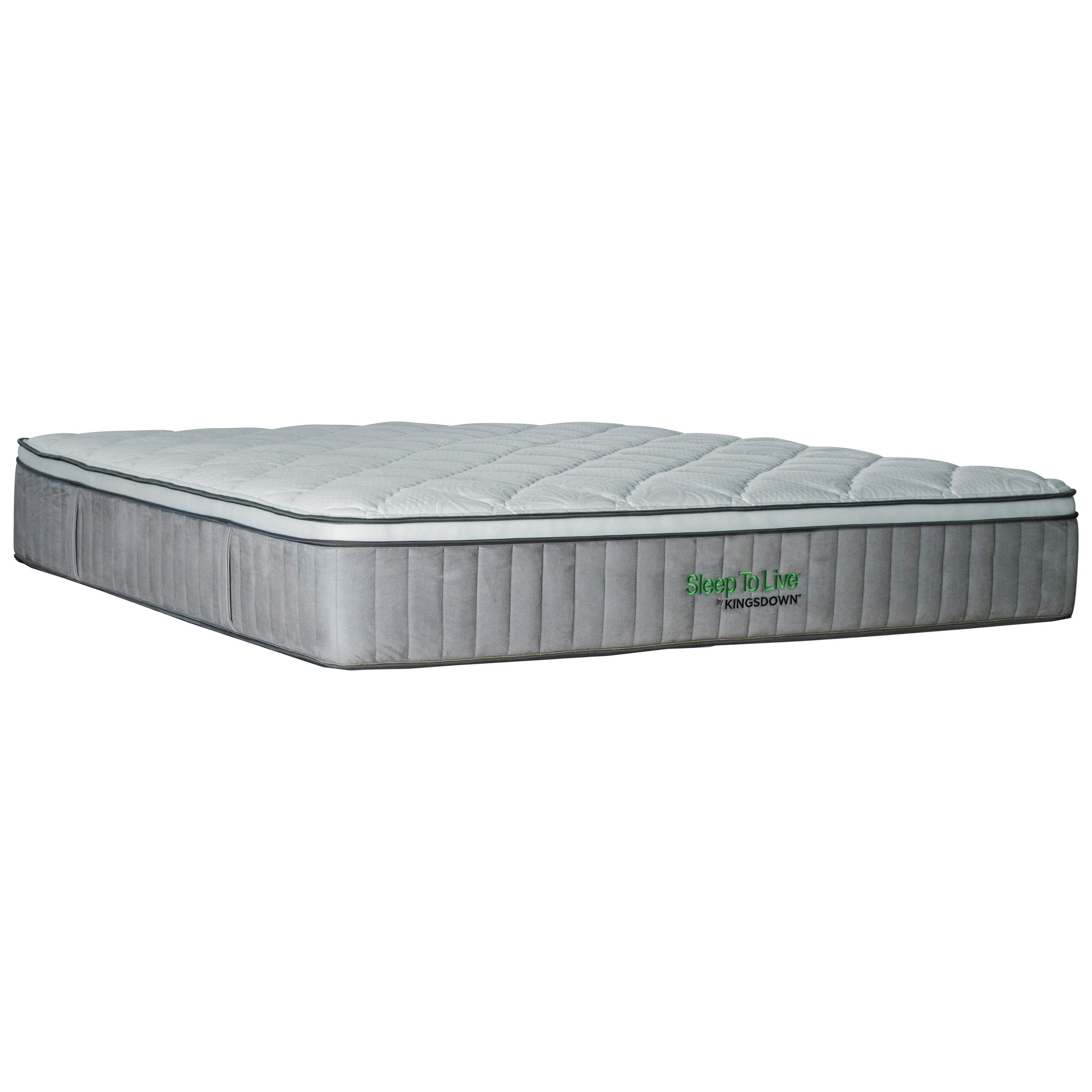 "Kingsdown 5224 Green 200 Series Queen 13.5"" Luxury Plush Mattress - Item Number: 5224-Q"
