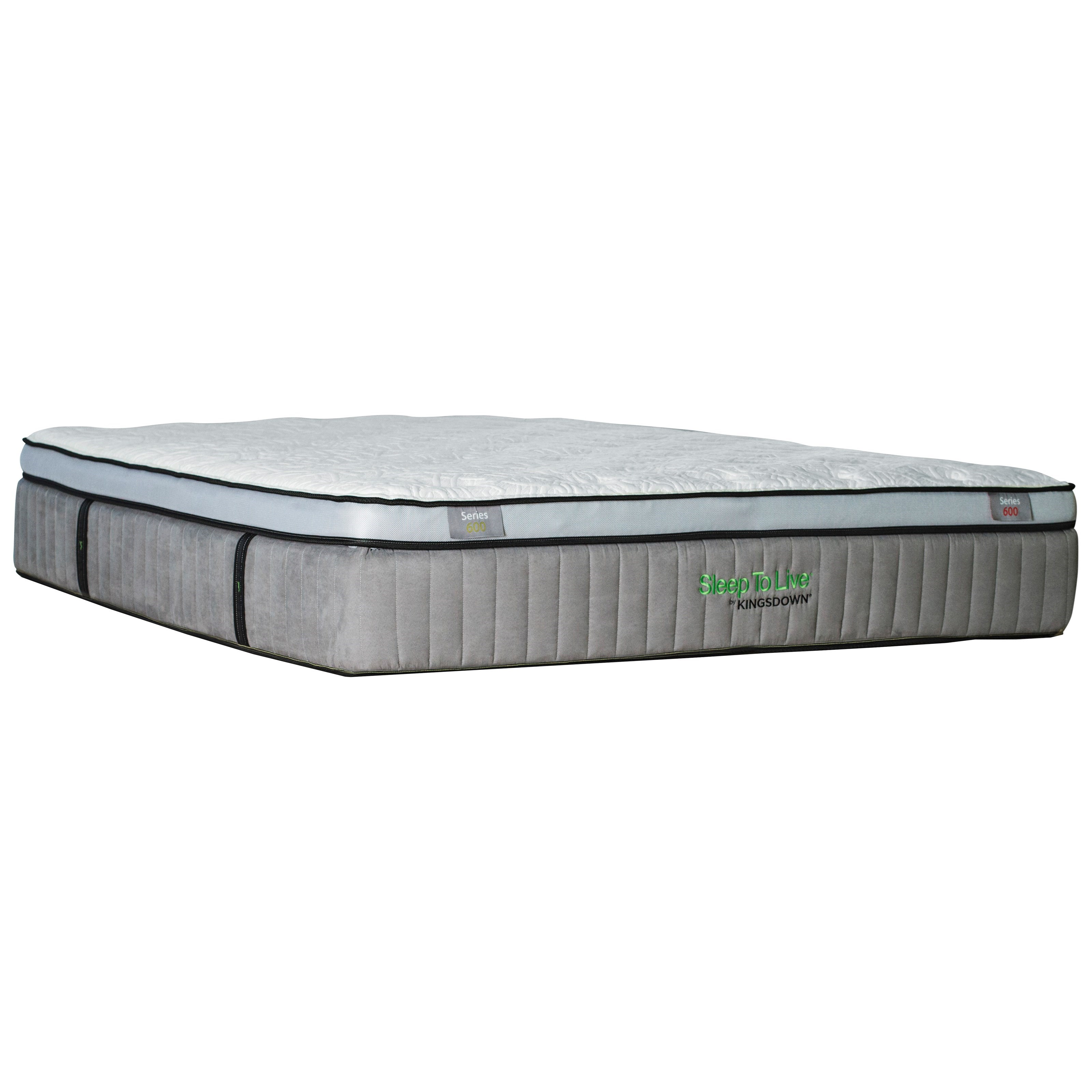 "Kingsdown 5244 Green Series 600 King 15 1/2"" Euro Top Luxury Mattress - Item Number: 5244-K"