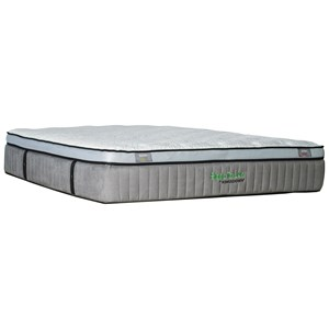 "Kingsdown 5244 Green Series 600 Queen 15 1/2"" Euro Top Luxury Mattress"
