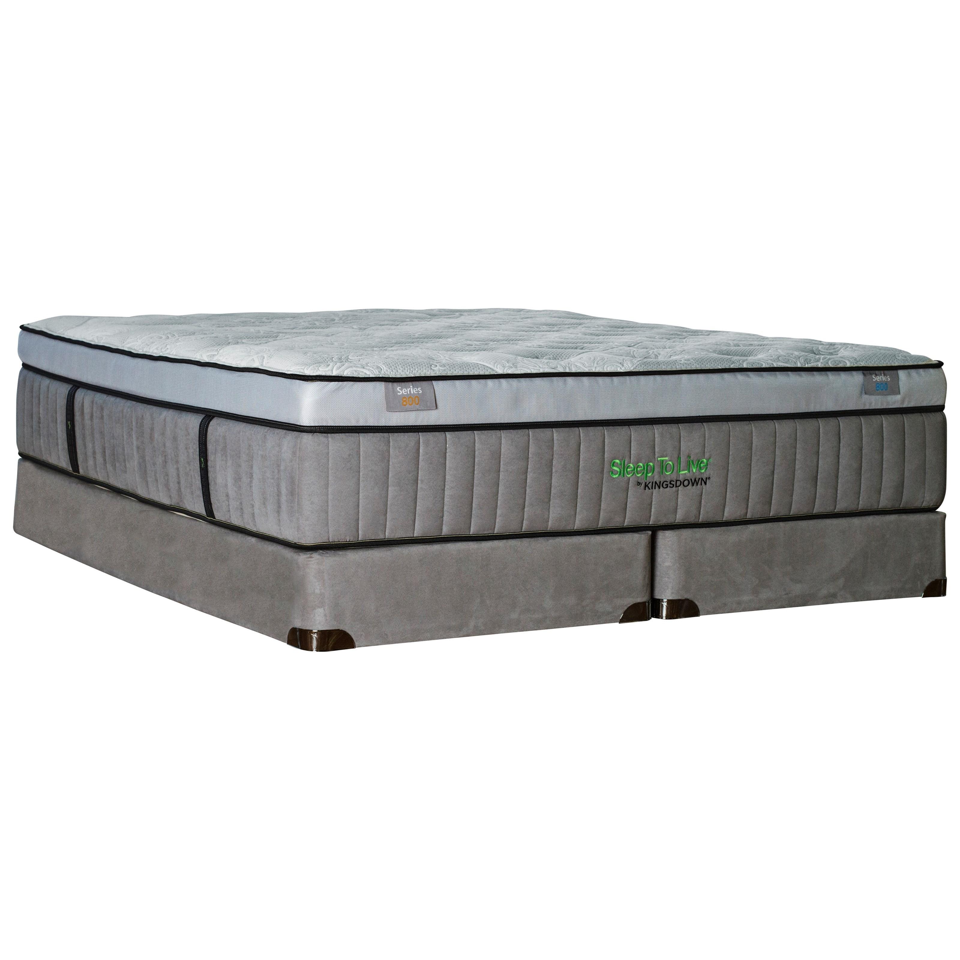 """Kingsdown 5254 Green Series 800 Twin XL 16 1/2"""" Plush Box Top Mattress Set - Item Number: 5254-TXL+1128SFH-TXL"""