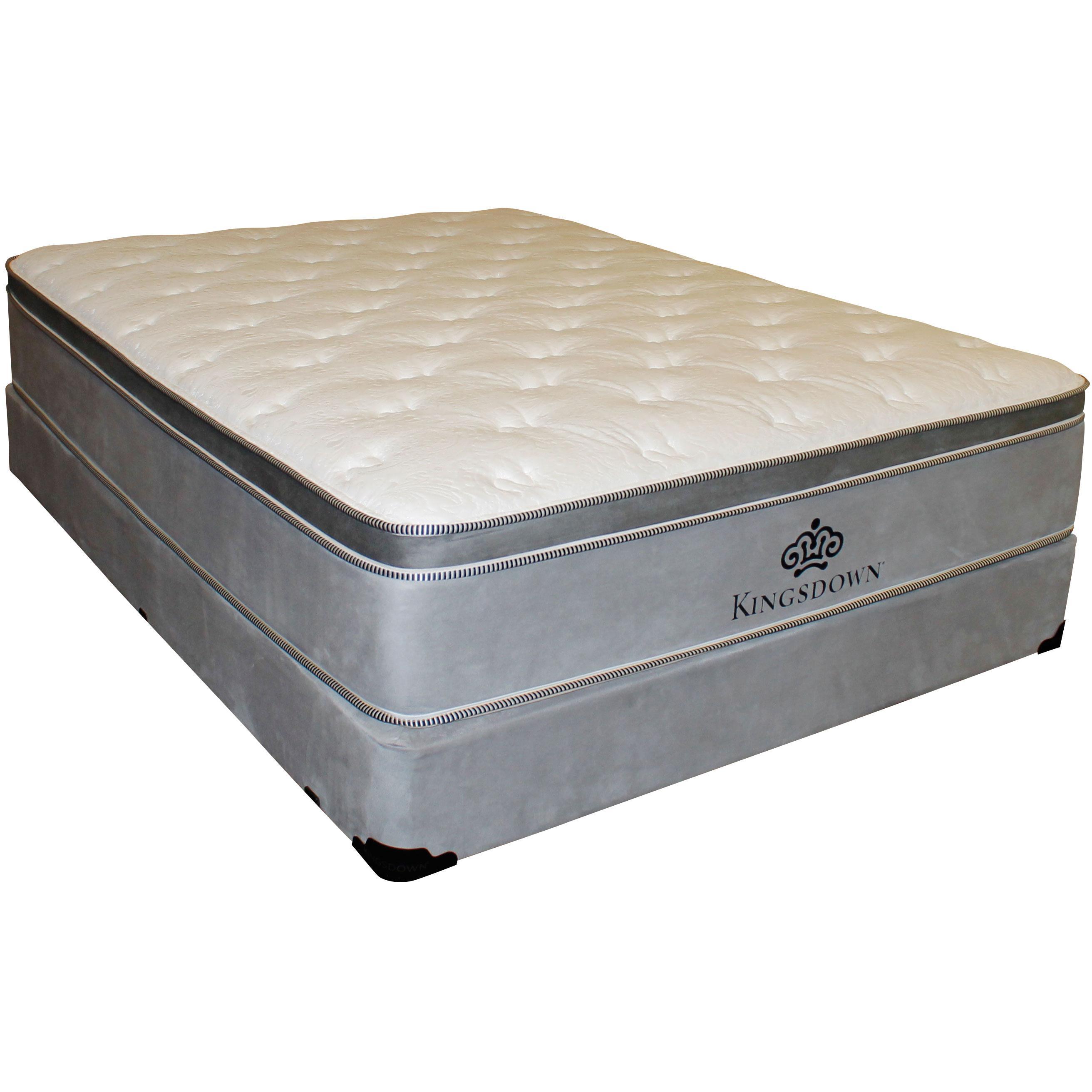 Kingsdown Anniversary Silver King Pillow Top Mattress Set - Item Number: PillowTop-K+2xFoundationK