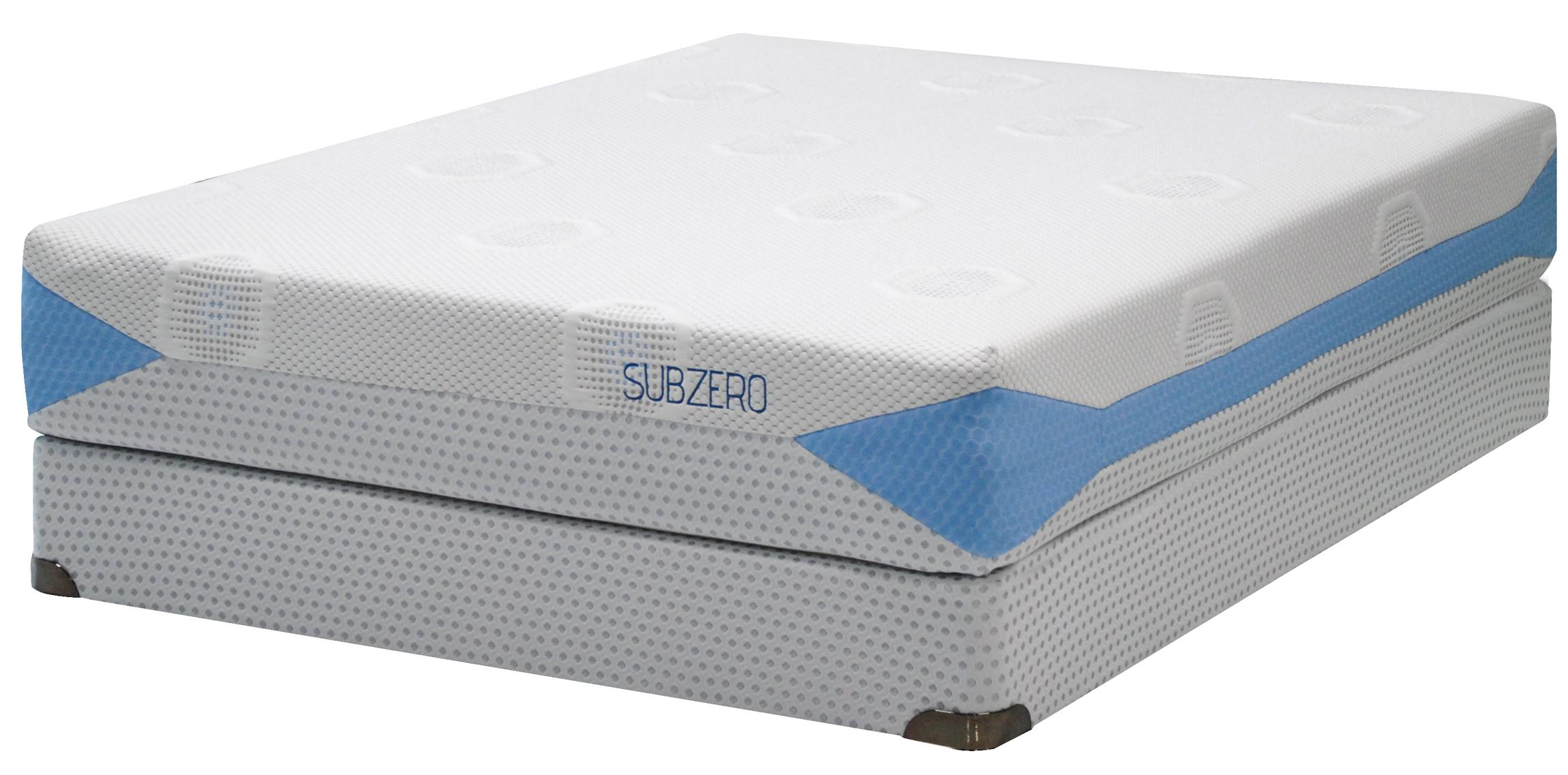 Kingsdown Blu-Tek Subzero Queen Memory Foam Mattress Set - Item Number: 2893Q+2880Q