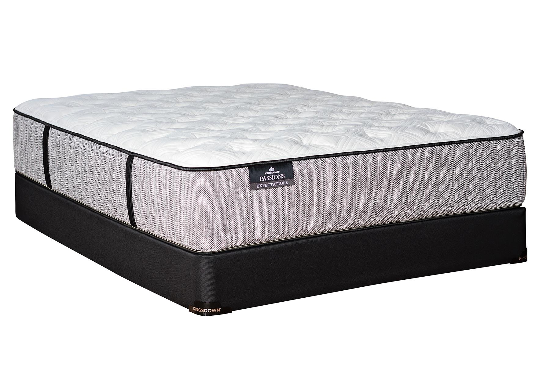 Kingsdown Passions Expectations Twin XL Plush Mattress Set with Gel Memory F - Item Number: 1220Plush-TXL+1128SFH-TXL
