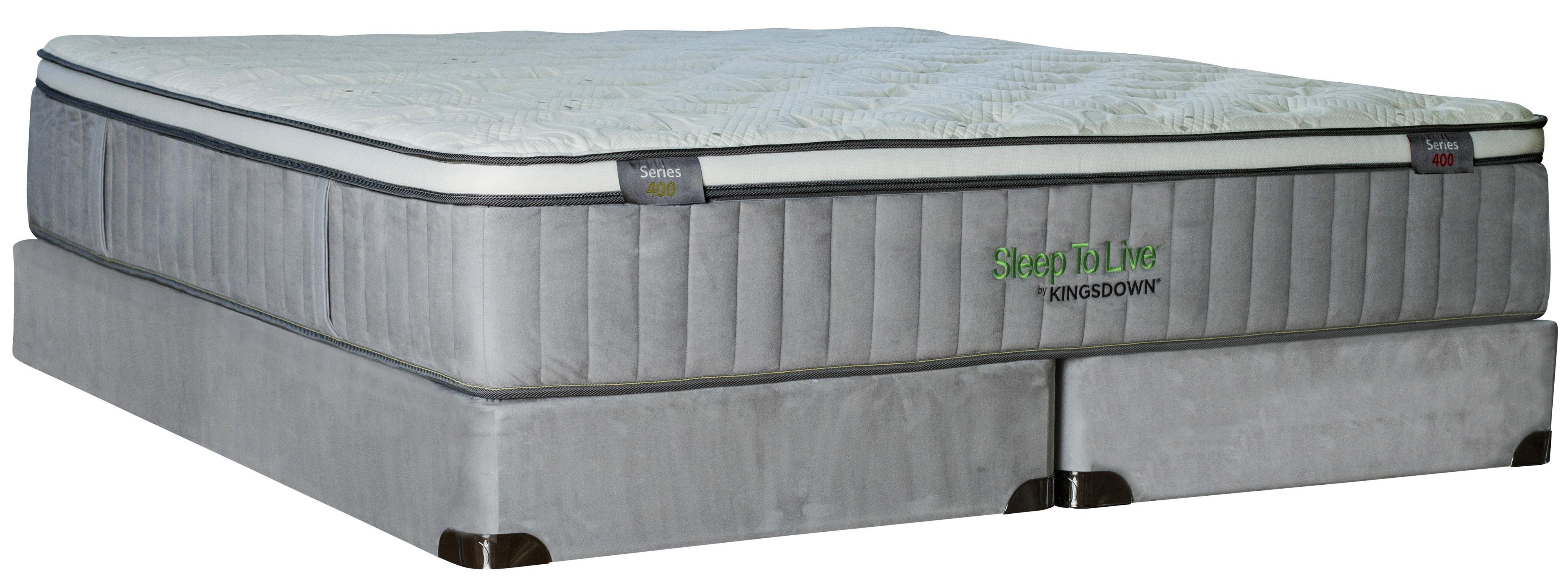 Kingsdown Sleep To Live 400 King Euro Top Mattress Set with Memory Foam - Item Number: Series400-K+2x1128SFH-TXL