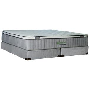 Kingsdown Sleep To Live 400 Queen Euro Top Mattress Set with Memory Foam
