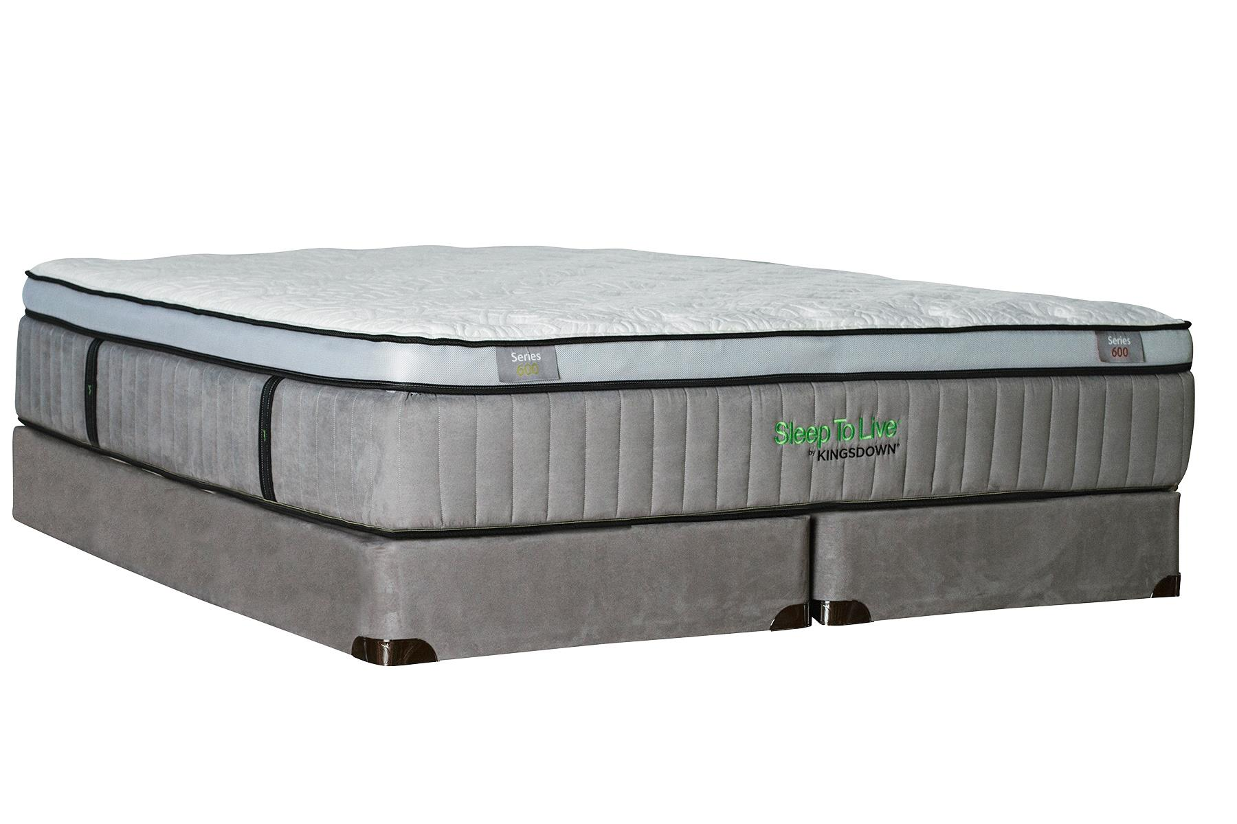 Kingsdown Sleep to Live 600 King Euro Top Mattress Set with Latex - Item Number: Series600-K+2x1128SFH-TXL