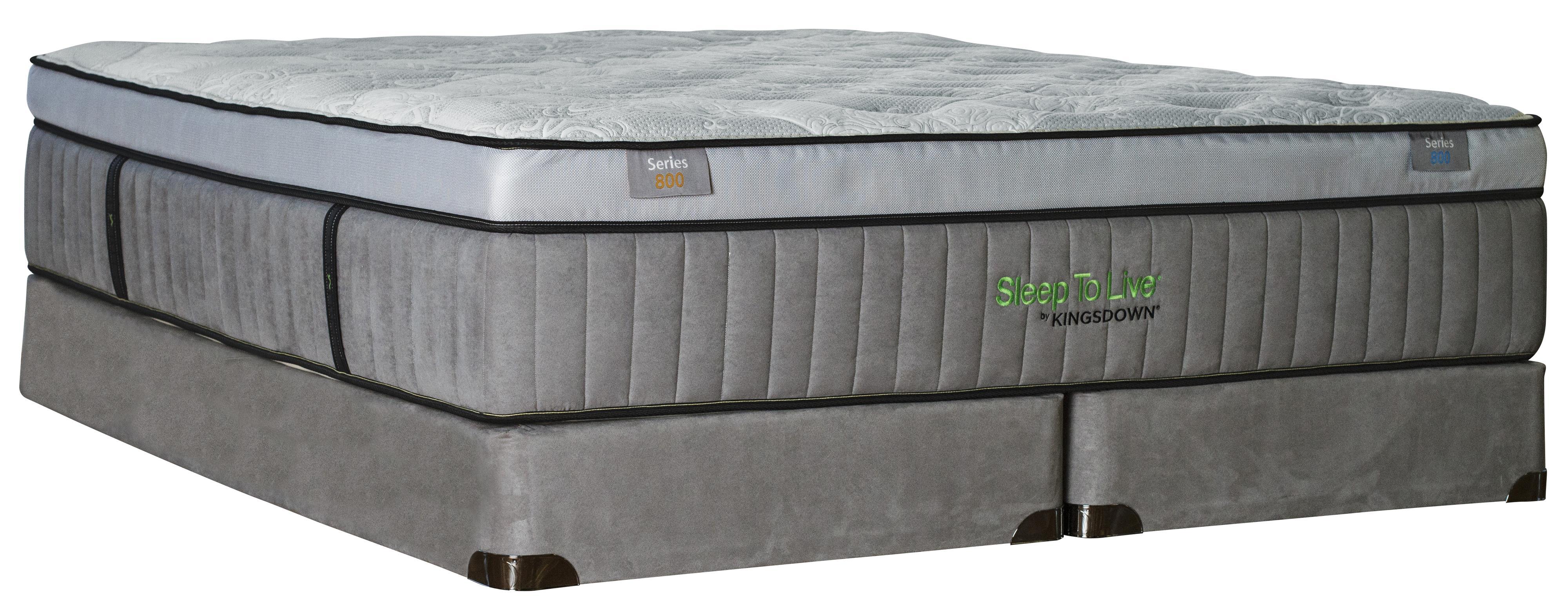 Kingsdown Sleep to Live 800 King Luxurios Box Top Mattress Set - Item Number: Series800-K+2x1128SFH-TXL