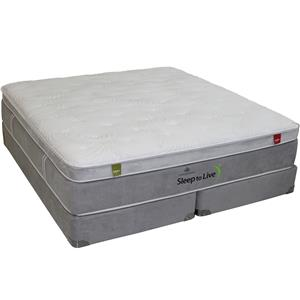 Kingsdown Series 7 California King Foam Mattress and Foundation