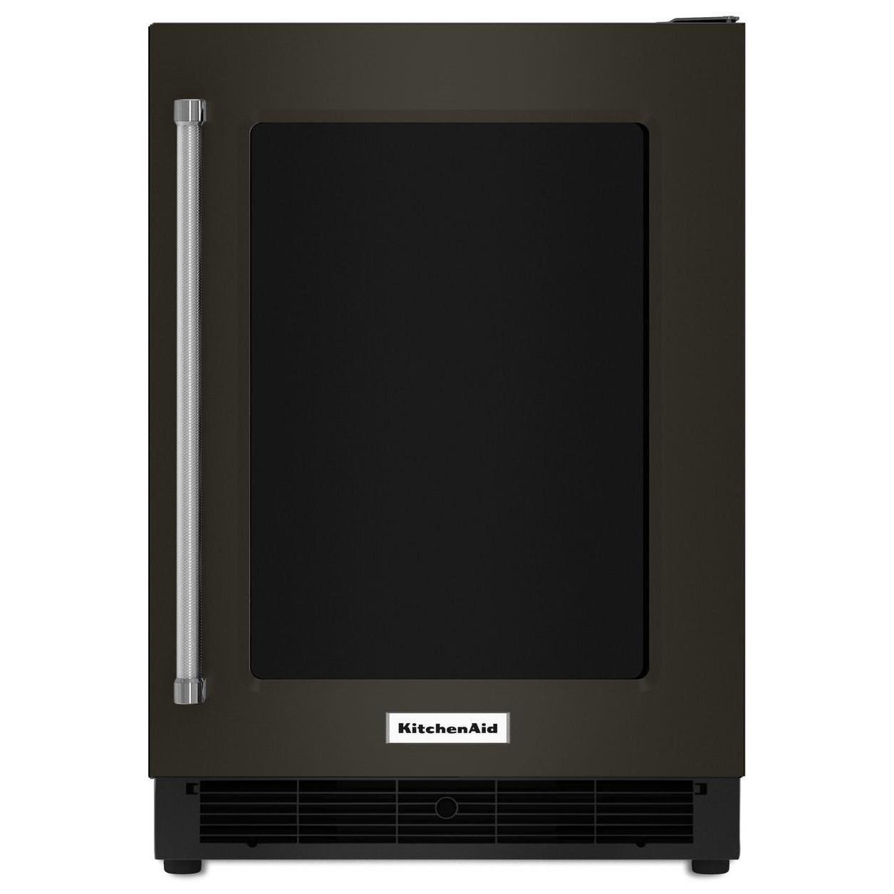 "KitchenAid Beverage Coolers - KitchenAid 24"" Undercounter Right Hand PullRefrigerator - Item Number: KURR304EBS"