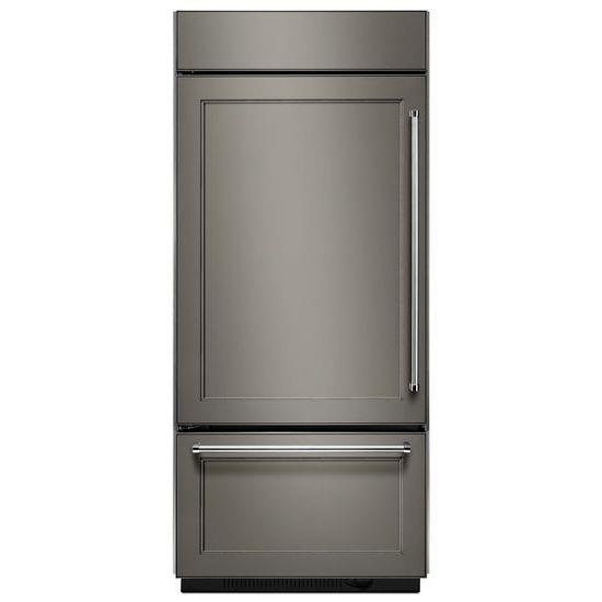 "KitchenAid Bottom Mount Refrigerators 20.9 Cu. Ft. 36"" Bottom Mount Refrigerator - Item Number: KBBL206EPA"