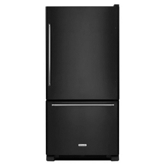 KitchenAid Bottom Mount Refrigerators 19 cu. ft. 30-Inch Bottom Mount Refrigerator - Item Number: KRBX109EBL