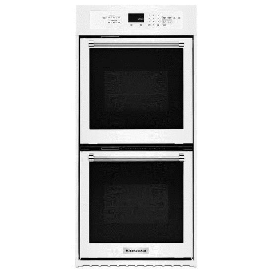 "KitchenAid Built-In Electric Double Ovens 24"" Electric Double Wall Oven  - Item Number: KODC304EWH"