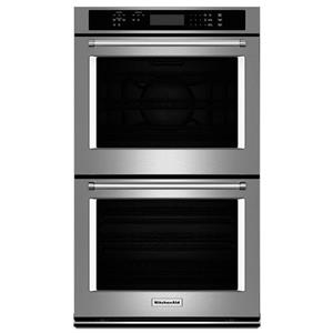 "KitchenAid Built-In Electric Double Ovens 30"" 10 cu. ft. Double Wall Oven"